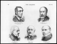 1875 antica stampa-CANON SELWYN SIR aiuta a Philip brunnow INSABBIATE (G051)