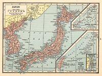 1931 Antique Map of Japan Original Vintage Japan Map Gallery Wall Art smap 5976