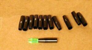 Original Beman Carbon Arrow to G Nock Adapters for 15/64 Size Arrows - New Dozen