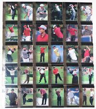 Tiger Woods 2001 Upper Deck PGA Golf Tiger's Tales Complete 30 Card Insert Set