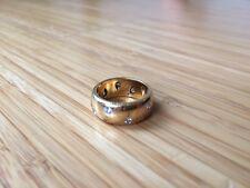 Tiffany & Co Etoile 18K Platinum Gold Diamond Vintage Ring Band - Size 6.5