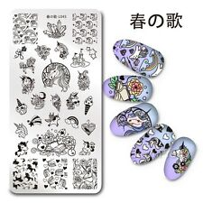 Unicorn Nail Art Stamping Plate Manicure Stamp Image Template Harunouta L045