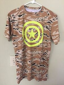 Under Armour Alter Ego Captain America Compresion Base Layer Short Sleeve Shirt