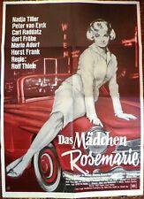 NADJA TILLER + DAS MÄDCHEN ROSEMARIE +1955 MERCEDES BENZ 190 SL ROADSTER +