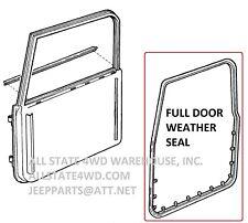 Full Door Weatherstrip Seal R for 97-06 Jeep Wrangler