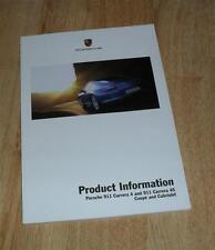Porsche 911 997 Gen 1 Product Information Brochure C4 C4S Coupe & Cabriolet 2005
