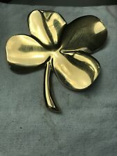 1984 Gerity Four Leaf Clover Shamrock 24 K Gold Plated Hope Faith Love Luck