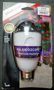 New! LED Lightshow Projection Light Bulb-Kaleidoscope by Gemmy Industries