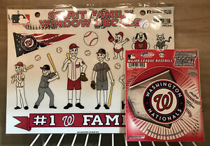 MLB Washington National Family Spirit Window Decals With Bonus Decal