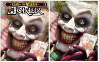Year of the Villain The Joker Ryan Brown Virgin Variant Cover DC Comic Harley