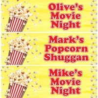 2 Personalised Popcorn Movie Party Celebration Banners Decoration Posters