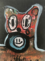 Hasworld Original,painting,signed,Pop Art,Impressionism,abstract Dog graffiti