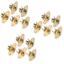 15pcs Gold Flat Oval Stainless steel Output Jack Plate for Electric Guitar Parts