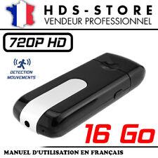 CLÉ USB CAMÉRA ESPION USBCAM1-HD + CARTE 16 GO HD 720P DÉTECTION VIDÉO 1280X720
