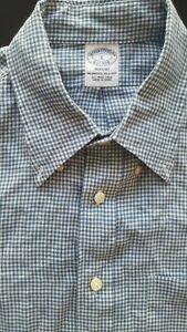 BROOKS BROTHERS Men Regent Irish Linen Long Sleeve Polo Dress Shirt - Large