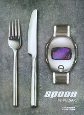 Pulsar Spoon Watch 1999 Magazine Advert #4217