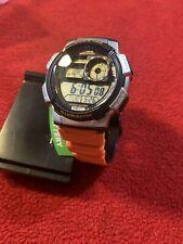 Casio Men's World Time Watch, Orange, AE1000W-4BVCF
