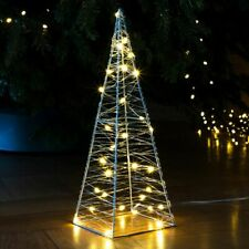 30 LED Metall Pyramide Leuchtkegel Weihnachtsbeleuchtung Lichterpyramide Deko