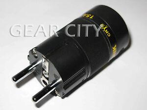 ppl6e Rhodium EU Schuko Mains Power Plug Male Copper Connector Cable Cord HiFi