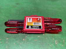 Bondhus 9pc Ball End Hex Screwdriver Set 1.5-10mm Metric MADE IN USA Clear Red