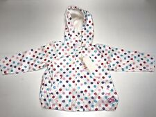 Week-end-a-la-mer Girls Baby New POLKA DOT RAINCOAT Sz: 12 mos. RTL: $90 P134