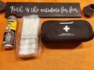 OEM McLAREN FIRST AID KIT + TIRE INFLATOR PUNCTURE ITEM EXPIRED 09/18 720s 570s