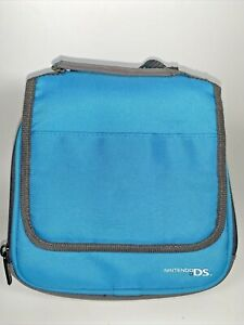 Nintendo DS Travel Bag Carry System Console Game Case Protector Teal Gray