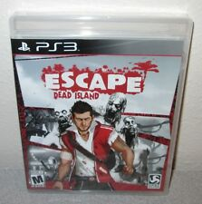 ESCAPE DEAD ISLAND Sealed NEW PlayStation 3 PS3 Zombie Hack and Slash Action