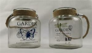 Botanica Garden Glass Candle Jars With Handle - 2 Assorted