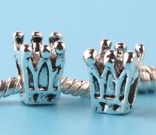 2pc Tibetan silver Imperial crown Spacer beads fit European Bracelet Chain #N207