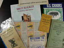 US  Stamp Collecting Lot  Variety Includes  Books, Pamphlets and Special Items