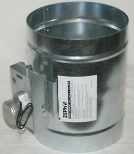 "Zephyr 54060013 99527208 Kitchen Exhaust Hood Universal Air Damper Motorized 8"""