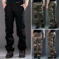 casual da uomo Cargo Stile Combattimento Militare lavoro pantaloni sportivi Tuta