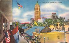 TX SAN ANTONIO La Vallita part of original city downtown  Vintage LINEN Postcard