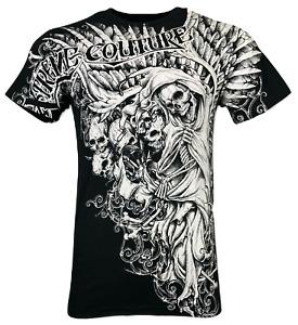 XTREME COUTURE by AFFLICTION Men's T-Shirt NEMESIS Skulls Biker Black S-5XL