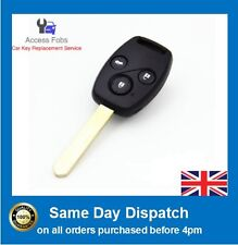 Key Remote compatible with Honda ACCORD JAZZ CRV FRV 3 button ID8E Chip (H01)