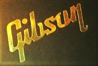 Gibson Guitar Headstock Inlay Decal Sticker, Luthier OEM 0.4% 22k GOLD LEAF