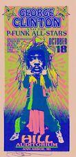 MINT & SIGNED George Clinton P-Funk 1996 Ann Arbor Arminski Handbill