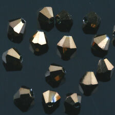 Loose 500pcs Faceted Bicone Crystal Glass Beads 4mm 6mm Spacer Jewelry Findings