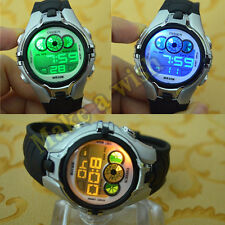 OHSEN 7 Color Changable LED Light Sport Digital Silver Boys Child Quartz Watches