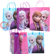 "Disney Frozen Elsa Anna Olaf Party Gift Bag Set of 6pc- Large 13"" Reusable Tote"