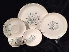Blue Periwinkle Floral China 30 Pieces Service for 6