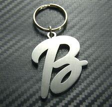 B Letter Alphabet Name Keyring Keychain Key Fob Bespoke Stainless Steel Gift