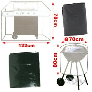 WATERPROOF BBQ COVER Small/Large Kettle Barrel Drum Smoker Trolley Protector UK