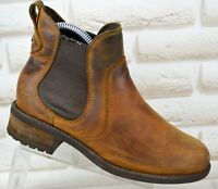 UGG BONHAM Womens Brown Leather Ankle Chelsea Boots Shoes Size 3.5 UK 36 EU