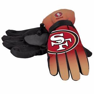 San Francisco 49ers Gloves Big Logo Gradient Insulated Winter NEW Unisex SM L/XL