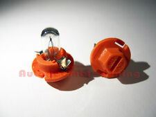 COPPIA LAMPADINE CRUSCOTTO LUCI INTERNE STRUMENTI PLASTICA ARANCIONE 12V 1W