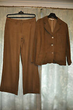 PHASE EIGHT   2 piece Trousers suit Jacket  Pure Linen size  12 /14