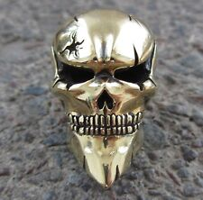 Joker SKULL  NEW COLLECTIBLE PARACORD LEATHER LANYARD BEAD HAND-CAST METAL
