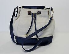 New Calvin Klein Canvas Drawstring bucket Colorblock H5AJG3PZ natural blue navy